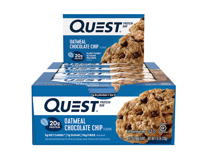 Quest Protein Bars - Oatmeal Chocolate Chip