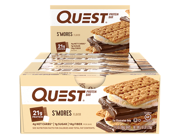 Quest Protein Bars - S'mores - 12 Count