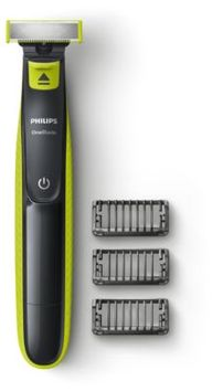 Philips OneBlade QP2520/71 OneBlade to trim, edge, shave Designed to cut hair not skin 3 x click-on stubble combs Rechargeable, wet & dry use