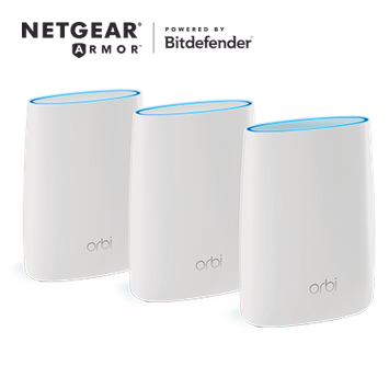 Orbi Whole home Mesh WiFi System 3-Pack, with Advanced Cyber Threat Protection