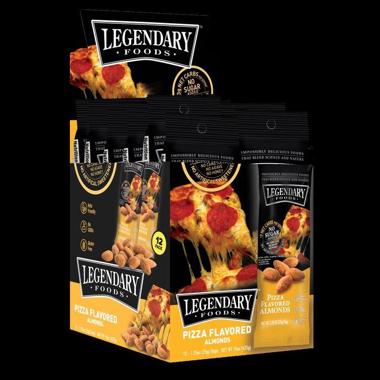 9pks Legendary Foods Keto Friendly Almond Snack Pizza & Cheddar Bacon 02/13/2021