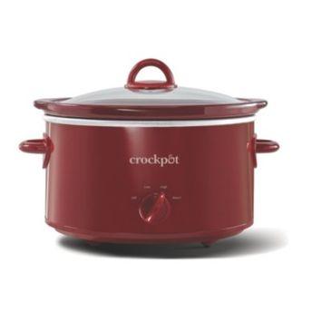 Crockpot™ 4-Quart Slow Cooker, Manual, Red