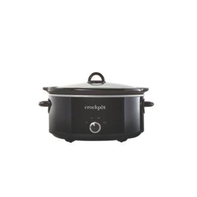 Crockpot™ 7-Quart Manual Slow Cooker, Black