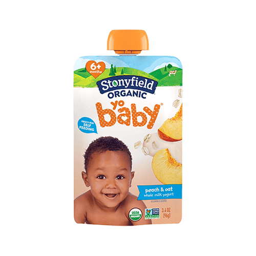 Stonyfield YoBaby Pouch Peach & Oat