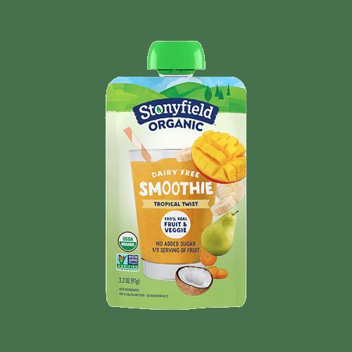 Stonyfield Fruit & Veggie Pouch Tropical Twist Smoothie