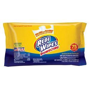 75 Count Redi Wipes Lemon Scent, Bleach Free