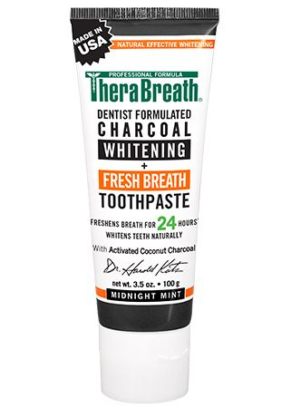 TheraBreath Whitening + Fresh Breath Charcoal Toothpaste