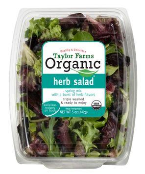 Taylor Farms Organic Baby Herb Salad,  5 oz.