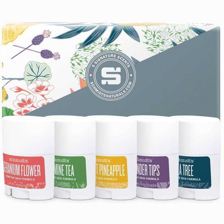 Schmidt's Travel-Size Sensitive Skin Sticks 5-Pack