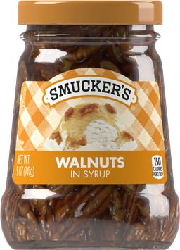 Smuckers Walnuts in Syrup Spoonable Ice Cream Topping