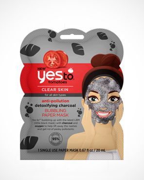 Yes To Tomatoes Anti-Pollution Detoxifying Charcoal Bubbling Paper Mask
