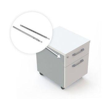 Emuca paire de coulisses pour tiroirs, à billes, à sortie partielle, 17 mm