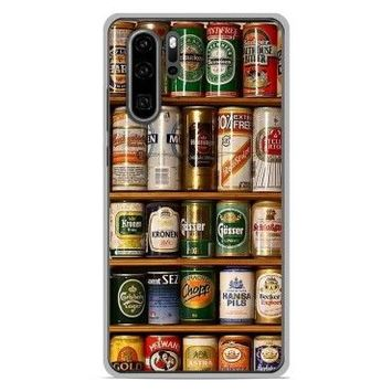 Coque silicone gel huawei p30 pro motif canettes