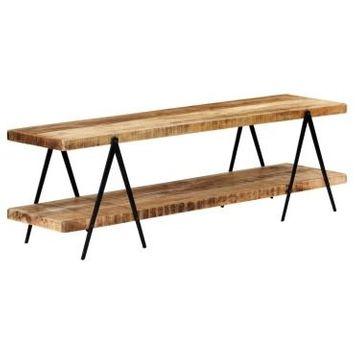 Vidaxl meuble tv 160x40x50 cm bois solide de manguier