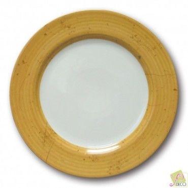 Assiette plate prestige jaune d 31 cm