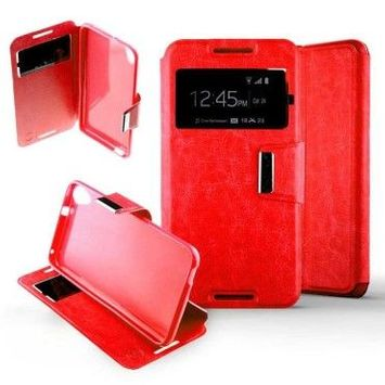 Etui folio htc desire 820 - rouge