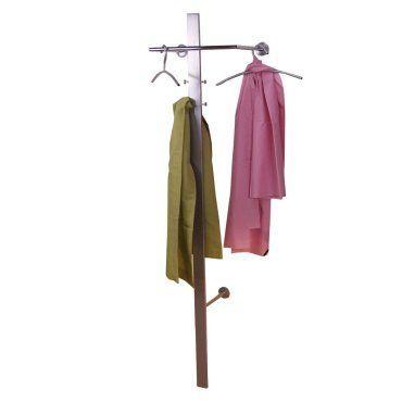 Porte-manteau mural en métal avec cintres et patère med05001