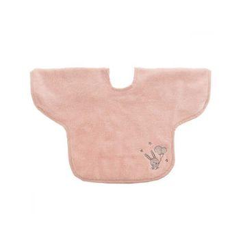 Bavoir bébé à manche 450gr/m² baby soft lapin - poudre - tu