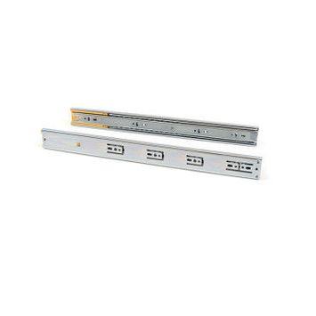 Emuca paire de coulisses pour tiroirs, à billes, à sortie totale, avec fermeture amortie, 45 mm