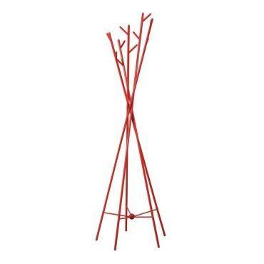 Portemanteaux métal rouge - arbust - l 55 x l 55 x h 175 - neuf