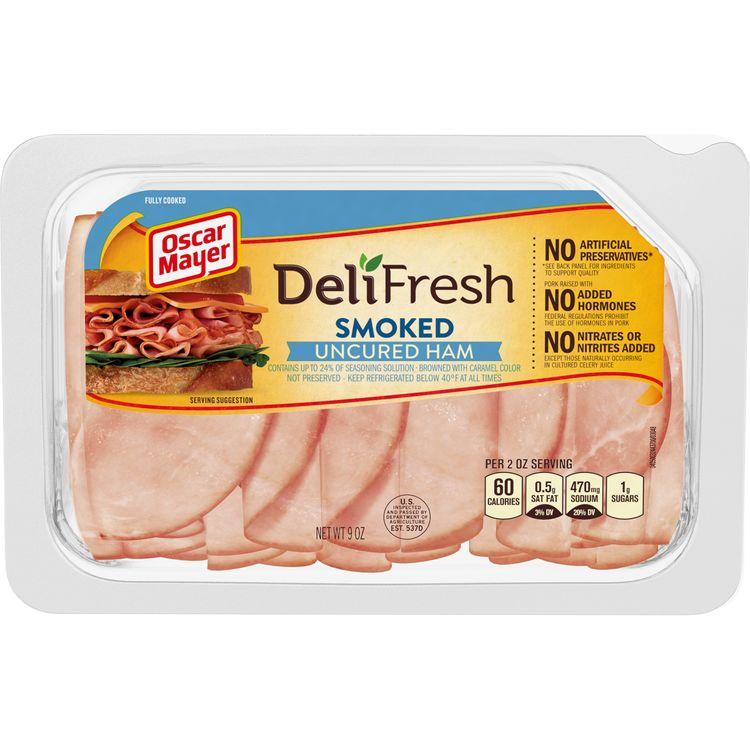 Oscar Mayer Deli Fresh Smoked Uncured Ham Lunch Meat