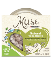 Muse Natural Tuna Recipe Accented With Spinach in Fish Broth Wet Cat Food