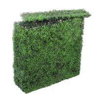 Muret de buis artificiel Vert foncé - 100 cm