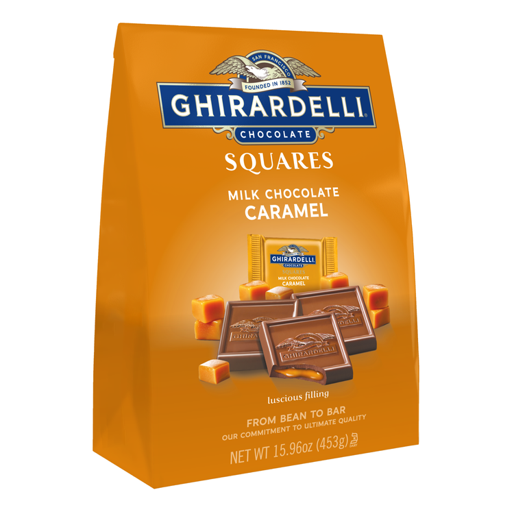 Ghirardelli Milk Chocolate Squares with Caramel Filling
