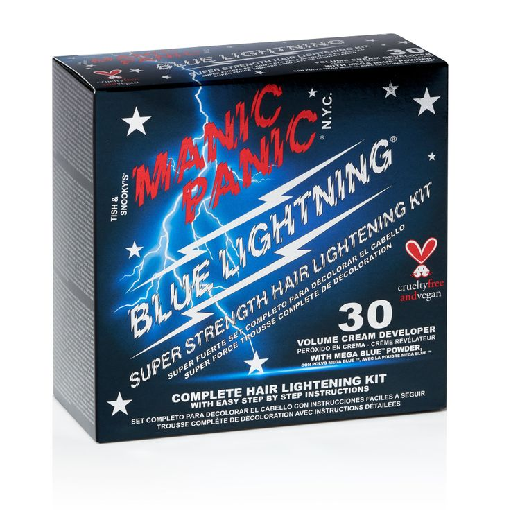 Manic Panic® Blue Lightning® Bleach Kit - 30 Volume with Mega Blue Powder