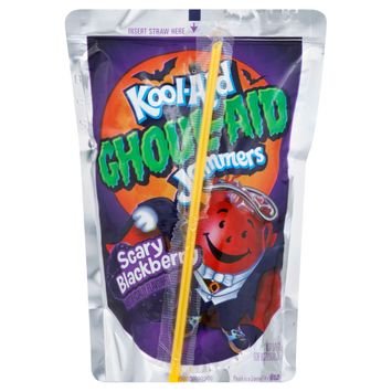 Kool-Aid Jammers Ghoul-Aid Blackberry Flavored Drink, 10 ct - Pouches, 60.0 fl oz Box