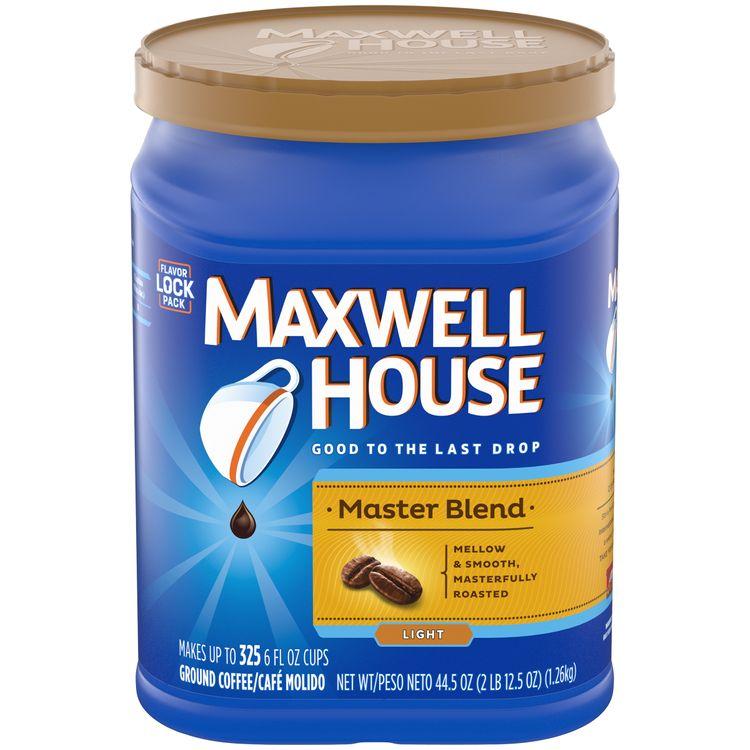 Maxwell House Master Blend Light Roast Ground Coffee, Caffeinated