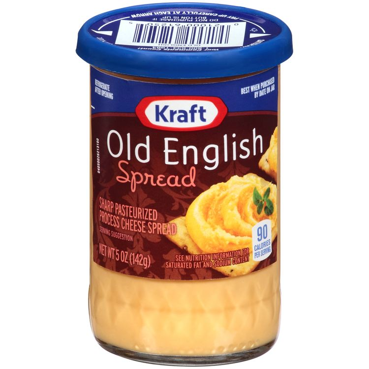 Kraft Old English Sharp Cheddar Cheese Spread, 5 oz Jar