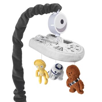 Lambs & Ivy Star Wars Signature Millennium Falcon Musical Baby Crib Mobile Toy