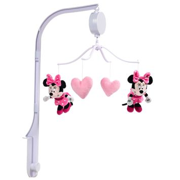 Lambs & Ivy Disney Baby Minnie Mouse Love Pink Musical Baby Crib Mobile Soother