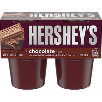 Hershey's Chocolate Pudding Cups, 4 ct - 15.5 oz Package