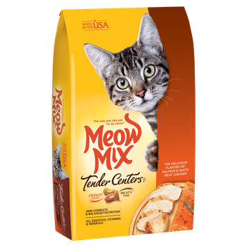 Meow Mix® Tender Centers Salmon & White Meat Chicken Flavors