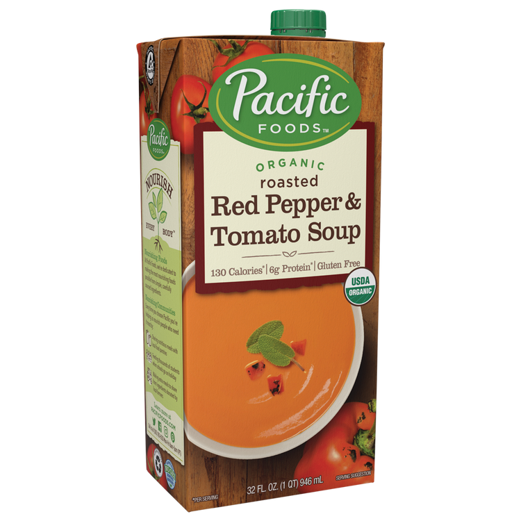 Pacific Foods Organic Creamy Roasted Red Pepper & Tomato Soup