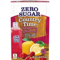 Country Time On-The-Go Zero Sugar Raspberry Lemonade Powdered Drink Mix, 6 ct - Packets