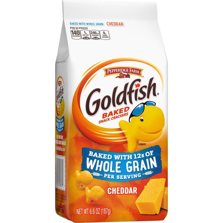 Pepperidge Farm® Goldfish® Cheddar Crackers, Baked with Whole Grain, 6.6 oz. Bag