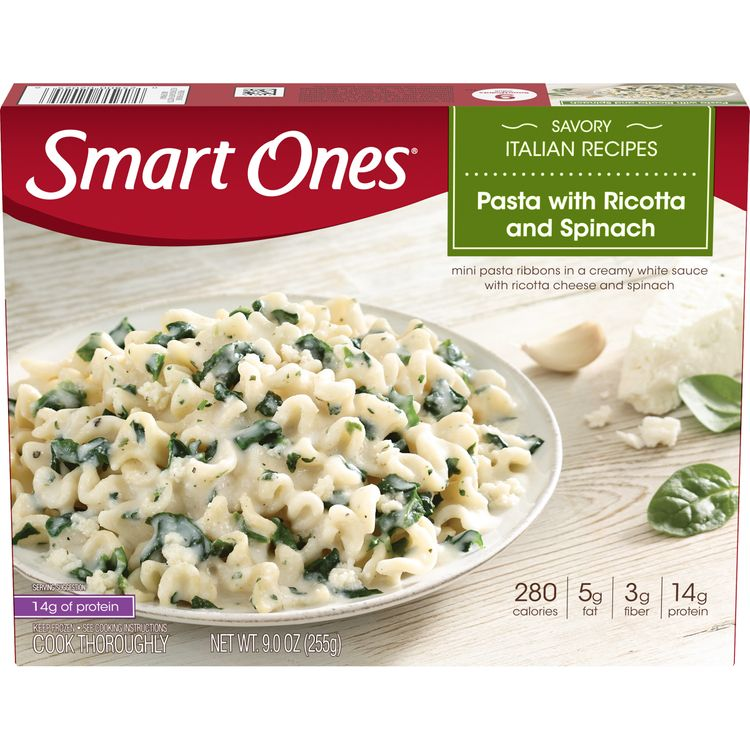 Smart Ones Pasta with Ricotta and Spinach, Frozen Meal, 9 oz Box