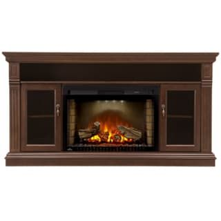 Napoleon NEFP29-1415 Espresso Walnut Canterbury 64 Inch Wide Media Console with 5000 BTU Electric Fireplace from the Cinema Collection