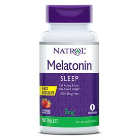 Natrol Melatonin Strawberry Fast Dissolve 3mg
