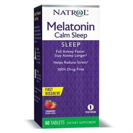 Natrol Melatonin Calm Sleep Strawberry Fast Dissolve Tablets 6mg
