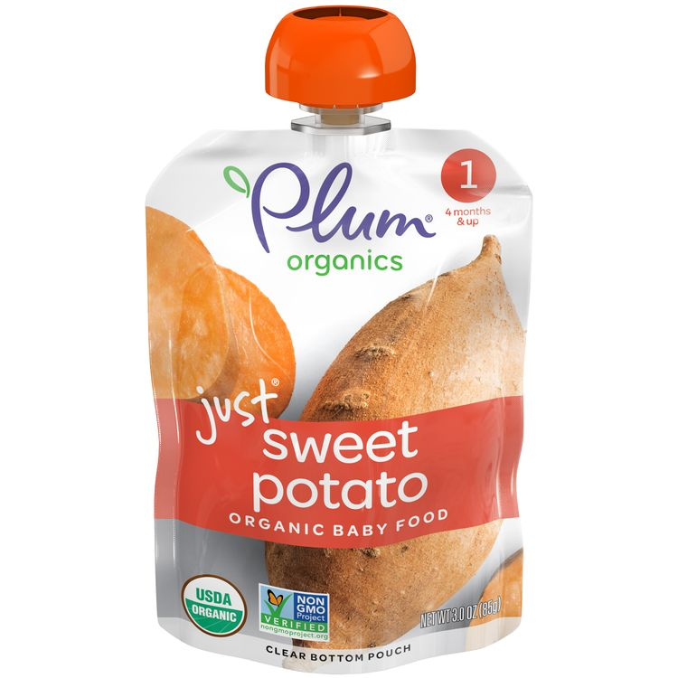 Plum Organics® Stage 1 Organic Baby Food, Sweet Potato Puree, 3 Ounce Pouch