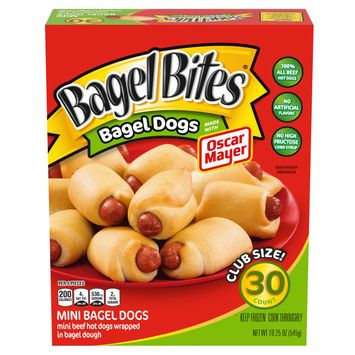 Bagel Bites Bagel Dogs, Frozen Snacks, 19.25 oz