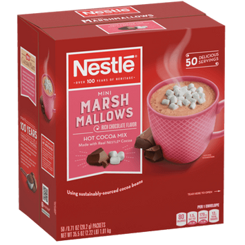 Nestle Hot Cocoa Mix, Rich Chocolate with Mini Marshmallows, Single Serve Packets, 6 x 50 Ct
