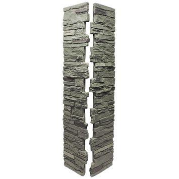 Slatestone 8 in. x 8 in. x 41 in. Faux Polyurethane Stone 2pc Post Cover