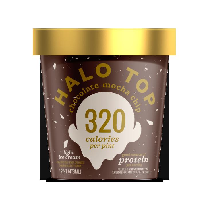 Halo Top Chocolate Mocha Chip Light Ice Cream Pint , 16 fl oz