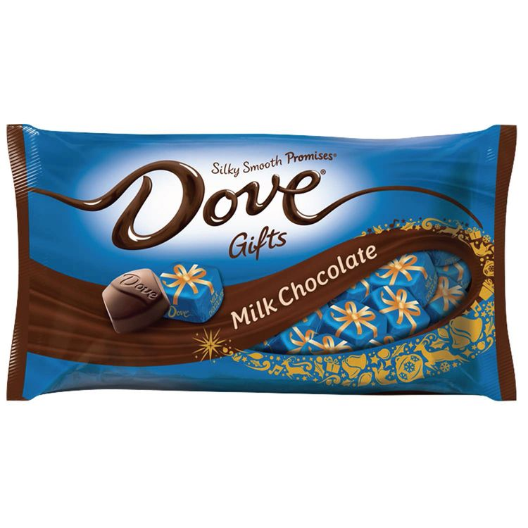 Dove Promises Holiday Gifts Milk Chocolate Candy 8.87-Ounce Bag