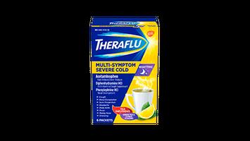Theraflu Nighttime Multi-Symptom Severe Cold - Hot Liquid Powder